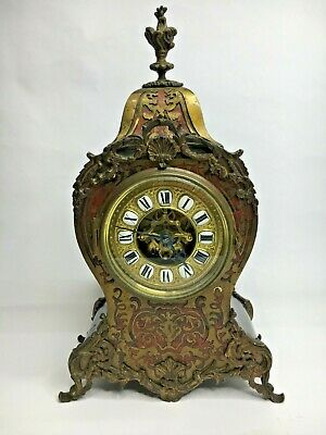 Antique Eugene Farcot Boulle Work French Mantle Clock