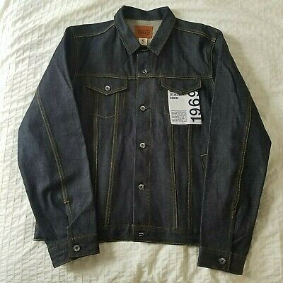 NWT GAP Blue Jean Jacket size XL Tall selvedge denim coat raw indigo NEW