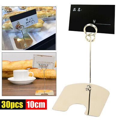 30pc Bakery Stainless Steel Clip Photo Holder Gold Electroplated Durable 7*8.5cm