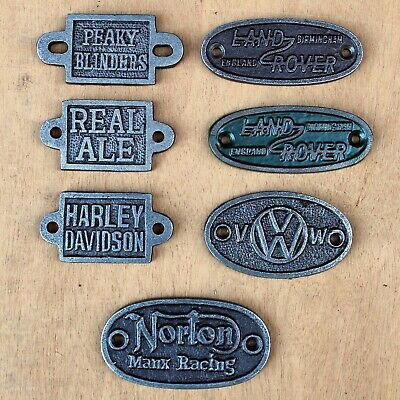 Small Cast Iron Plaques