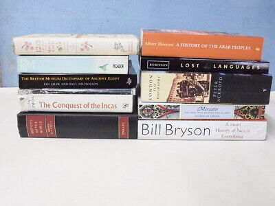 10 ASSORTED HISTORY BOOK BUNDLE MIX OF 1st ED, HB, PB & CONDITIONS PLEASE READ