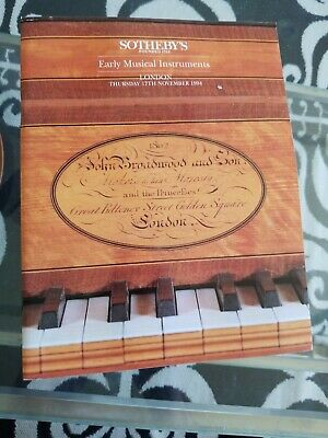1994 Sotheby's Antique Early Musical Instruments Auction catalog  flute piano