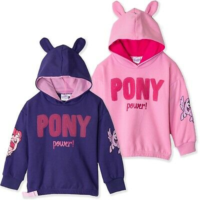 My Little Pony Characters Girl's Fleece Hoodie Hooded Sweatshirt Jacket 2-8 yrs