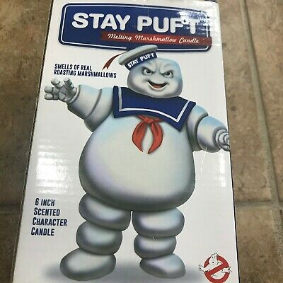 Ghostbusters Stay Puft Marshmallow Man Melting Candle, 6 Inch Scented Candle IOB