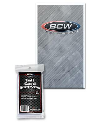 1 Pack of 100 BCW Tall Trading Card Storage Sleeves Holders
