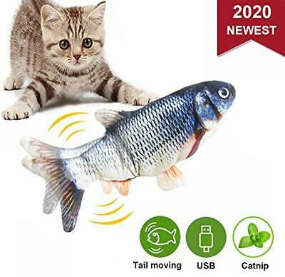 Malier Moving Catnip Fish Toys for Cats, Realistic Plush Electric Wagging Funny