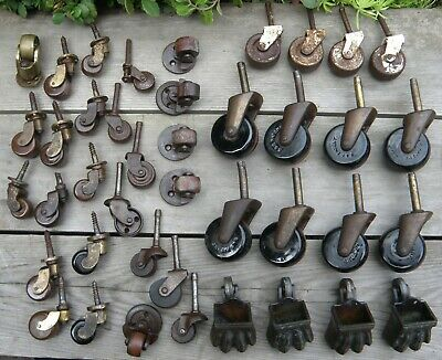 Furniture Restoration Hardware - A large quantity of Antique Furniture Castors