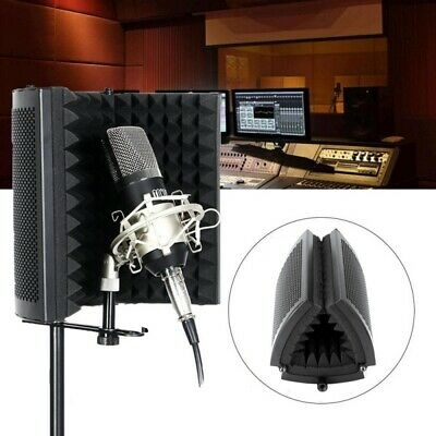 Portable Microphone Booth Studio Recording Vocal Mic Isolation Reflection Shield