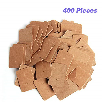 400 Pcs Kraft Paper Earring Tags Ear Stud Card Holder for Fashion Jewelry Design