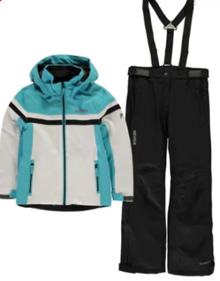 NEVICA Girls Blue White Nancy Skiing Suit Set Jacket & Trousers 12-13 Years NEW