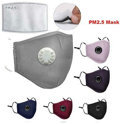 PM2.5 Cycling Anti Haze Face Cover Cotton Mouth Muffle Washable With Filter