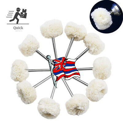 25mm Set of 10 Polishing Buffing Wool Cotton Wheel Dremel Rotary Tool Accessory