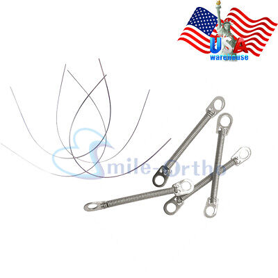 5XDental Orthodontic NiTi Closed Coil Spring Dia.0.010/0.012 Braces Light Forces