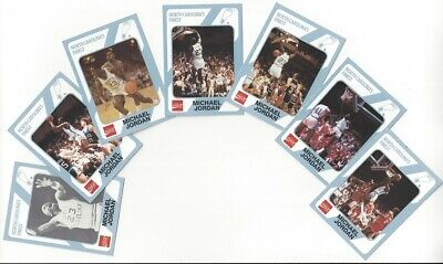 Michael Jordan 1989 North Carolina 7 Card Set Lot Collegiate Collection 1st Ed