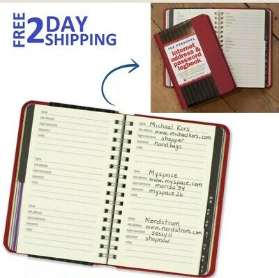 Password Booklet Address Book For Passwords Keeper Internet Manager Notebook