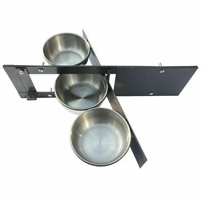 Parrot-Supplies Triple 5 Inch Bowl Parrot Swing Feeder For Cage & Aviary Birds
