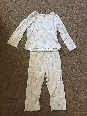 Girls Unicorn Castle Cath Kidston Pyjamas 2-3 Years Gorgeous Print