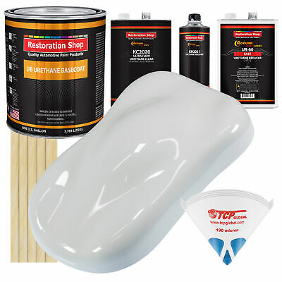 CHAMPIONSHIP WHITE Gallon Kit URETHANE BASECOAT Premium Car Paint FAST Kit