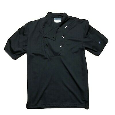 "Happy Chef Cook Cool Black Small Shirt Breathable 29"" Length"