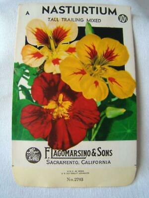 S06 5 Different Unused seed packet packages ORIGINAL 1965-1967 FLOWERS TEXAS