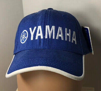 Yamaha Licensed Product Outboards Hat Blue & White New w/Tags Hook & Loop Unisex