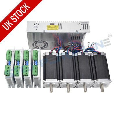 4 Axis CNC Kit 3Nm(425oz.in) Nema 23 Stepper Motor 4.2A & Driver CNC Mill Router