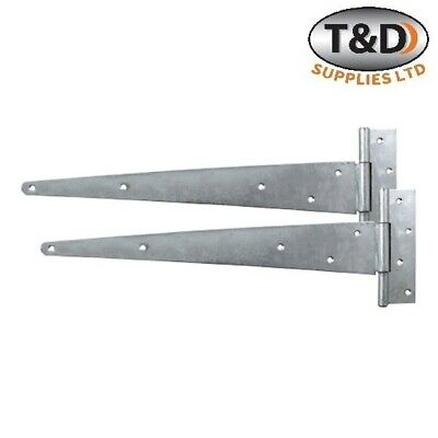"Tee Hinges gate shed garden Zinc Or Galvanised 4"" 6"" 8"" 12"" 14"" 16"" 18"" 24"" PAIR"