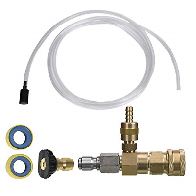 Adjustable Chemical Injector Kit for Pressure Washer, Soap Injector, 3/8 Inch