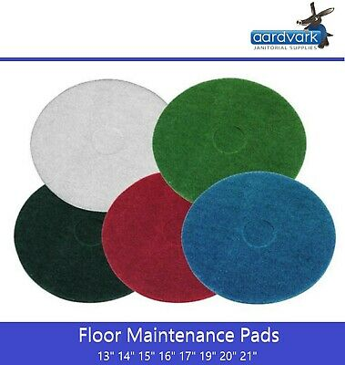 Floor Polisher Cleaning Scrubbing Dry Buffing & Final Polishing Janitorial Pads