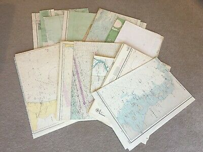 18 Assorted mostly 1970's Shipping Charts, Europe, Den Norske etc etc