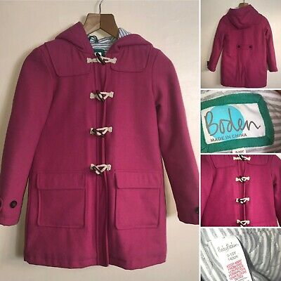 🌟Mini Boden Girls Pink Wool Mix Duffle Coat Age 9-10 Years