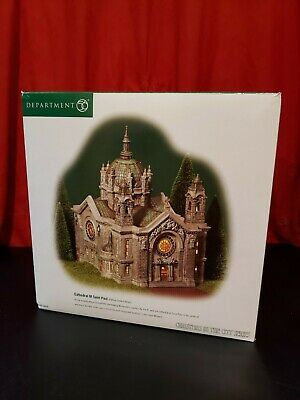 NEW DEPARTMENT 56 CHRISTMAS IN THE CITY SERIES CATHEDRAL OF SAINT PAUL PATINA D