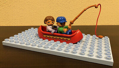 Oar LEGO Pair of Red  Minifig Paddle Boat Canoe
