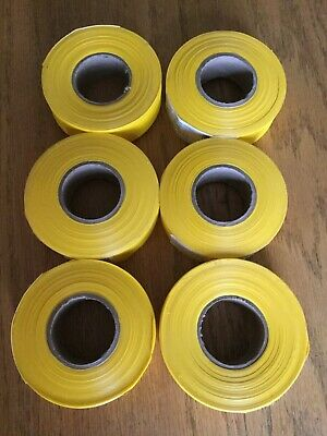 """6 rolls of  YELLOW FLAGGING TAPE  1""""  300 ft. (Intertape Polymer Group)"""