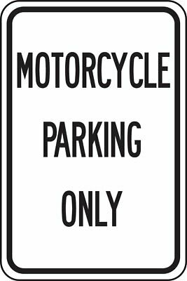 """Accuform FRP246RA Reflective Aluminum """"Motorcycle Parking ONLY""""18x12"""