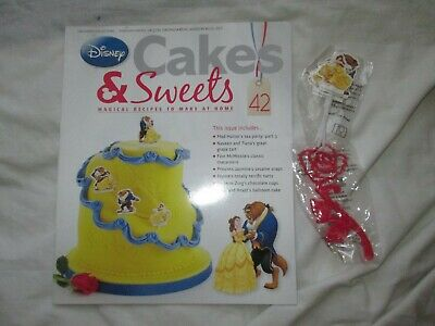 Disney Cakes & Sweets Magazine Issue 42 & BEAUTY & THE BEAST STICKS & ROSE STAMP