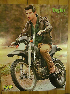Taylor Lautner, Motorcycle, Four Page Foldout Poster, Double Sided, Selena Gomez