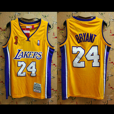 2008-2009 Finals Championship Logo Los Angeles Lakers #24 Kobe Bryant Jersey