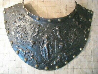Antique 19Th Century Cast And Engraved Bronze Venetian Style Gorget.