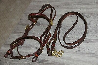 Horse Western show Noseband Rodeo Tie down SALE Leather Closeout $14.98 Med 8046