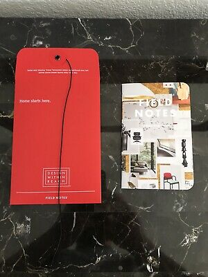 Field Notes Notebooks DWR Single Notebook And Red Envelope Brand New