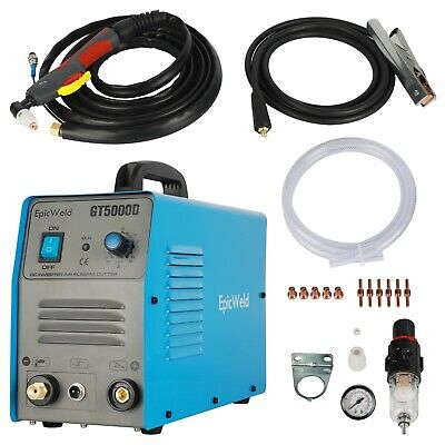 """PLASMA CUTTER 110 OR 220 VOLTS 1/2"""" Clean Cut 50 Amp 1 Year Warranty 7D Support"""