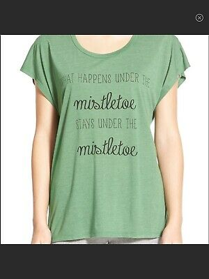 Bp. Nordstrom Graphic Tee What Happens Under The Mistletoe Stays Under The Sz M