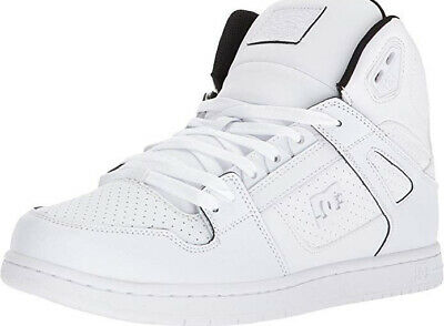 Mens DC Pure Hi WC Skate Shoe - White SZ 13