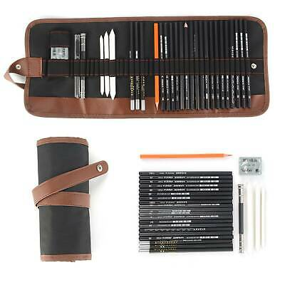 Professional Sketching Drawing Art Pencil Kit Set Graphite Charcoal Stick Artist