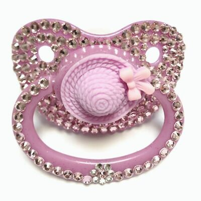 Cute Pink Hat Design Adult Pacifier Unique Hand Made Dummy ABDL Silicone Nipples