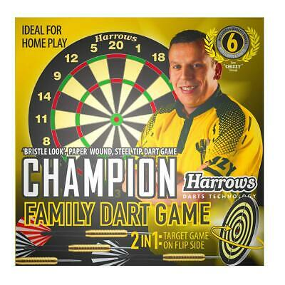 Harrows Chizzy Champion Family Dart Board Game With 2 Sets of Darts