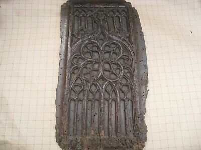 Antique 15Th Or 16Th Century French Gothic Carved Tracery Panel .