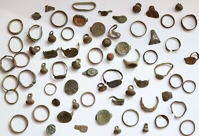 Job Lot Of Authentic Medieval Bronze Fragments