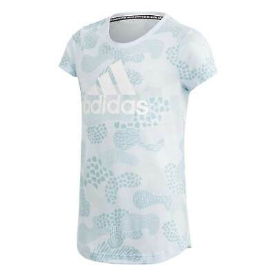 adidas Must Haves Gradient T Shirt Youngster Girls Crew Neck Tee Top Short